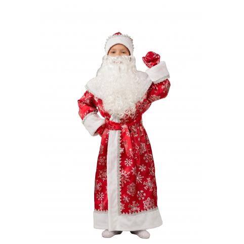 Дед Мороз подростковый красный