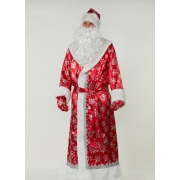 Дед Мороз красный бархатный